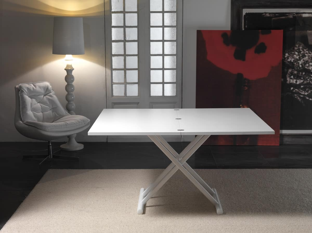 Art. 758 Lift Wood, Table Height Adjustable With Gas Lift System