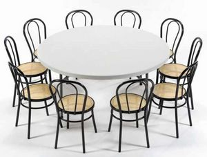 Clip round, Round folding table for contract use