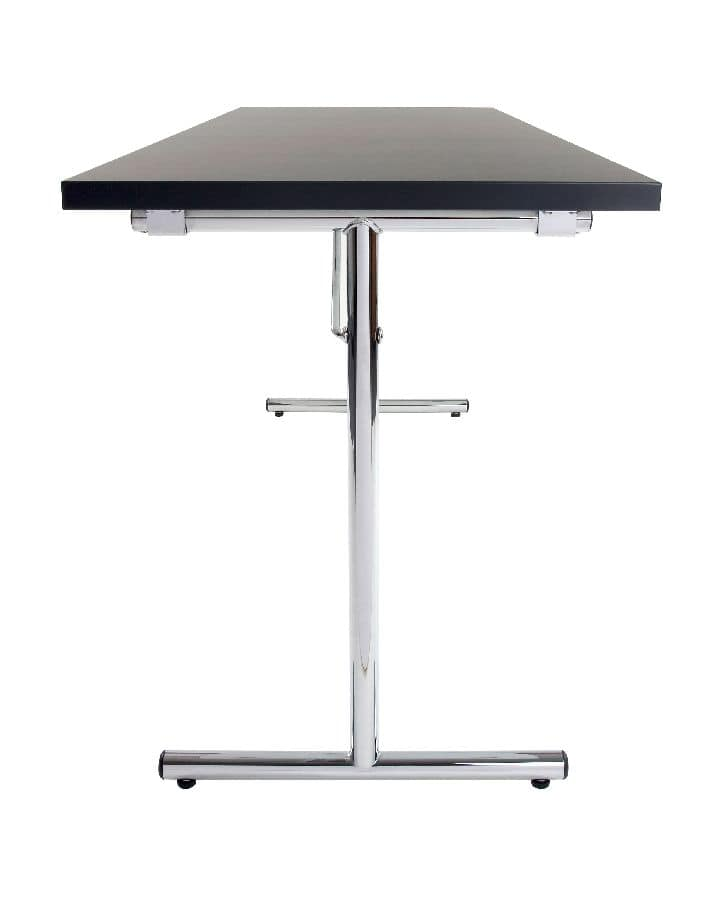 Conference 1645, Table with folding legs suitable for meetings, multi-functional table suitable for conferences
