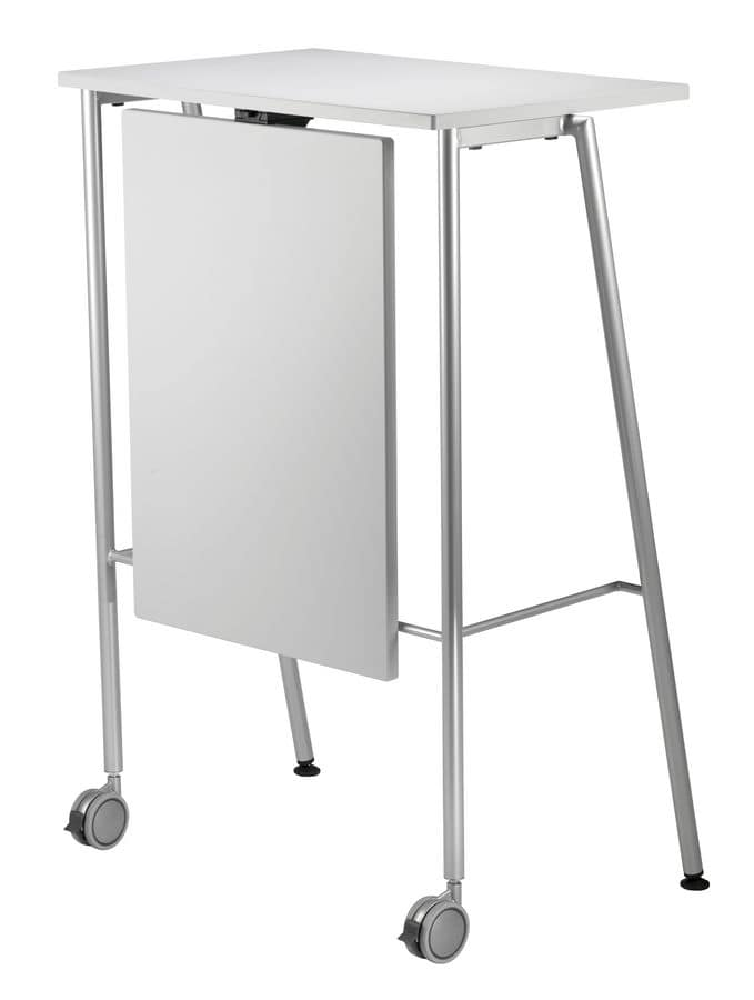 GIKO 755 + OPT, High table with metal base, for offices and schools