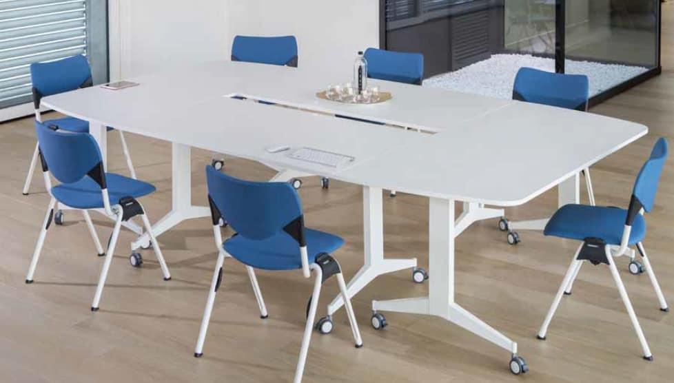 Jimmy, Modular folding table, on castors