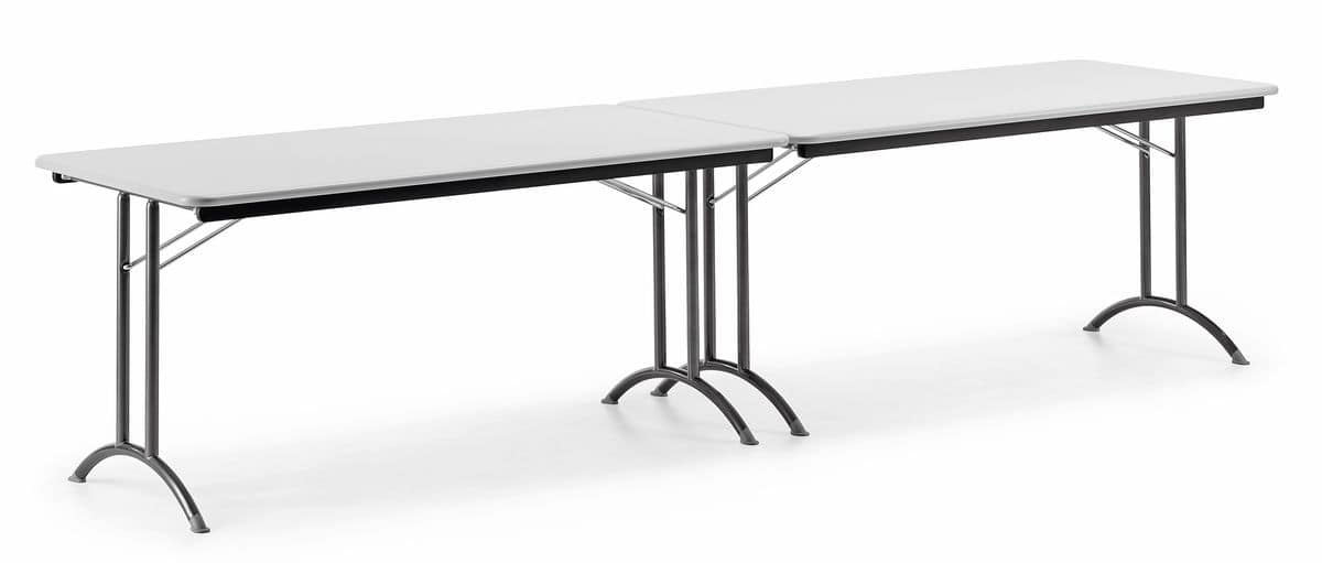 KOMBY 930, Folding table, metal base, laminate top