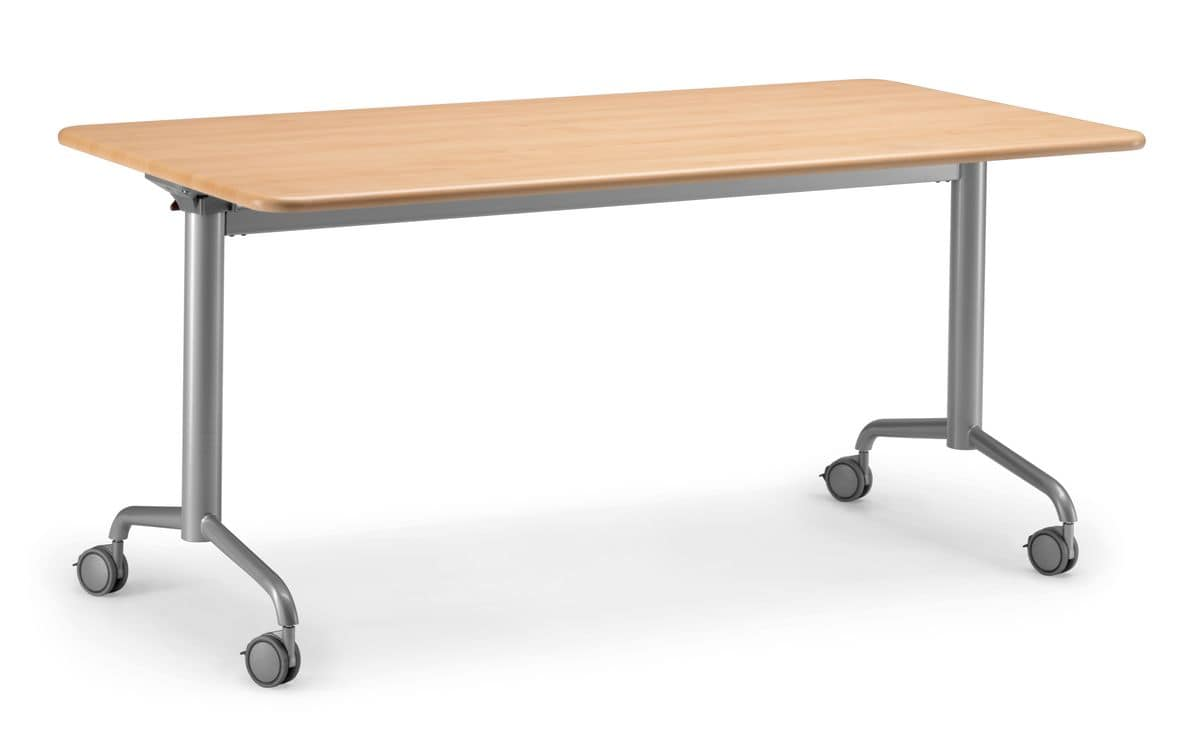 KOMBY 934 W, Folding table with wheels, for meeting area