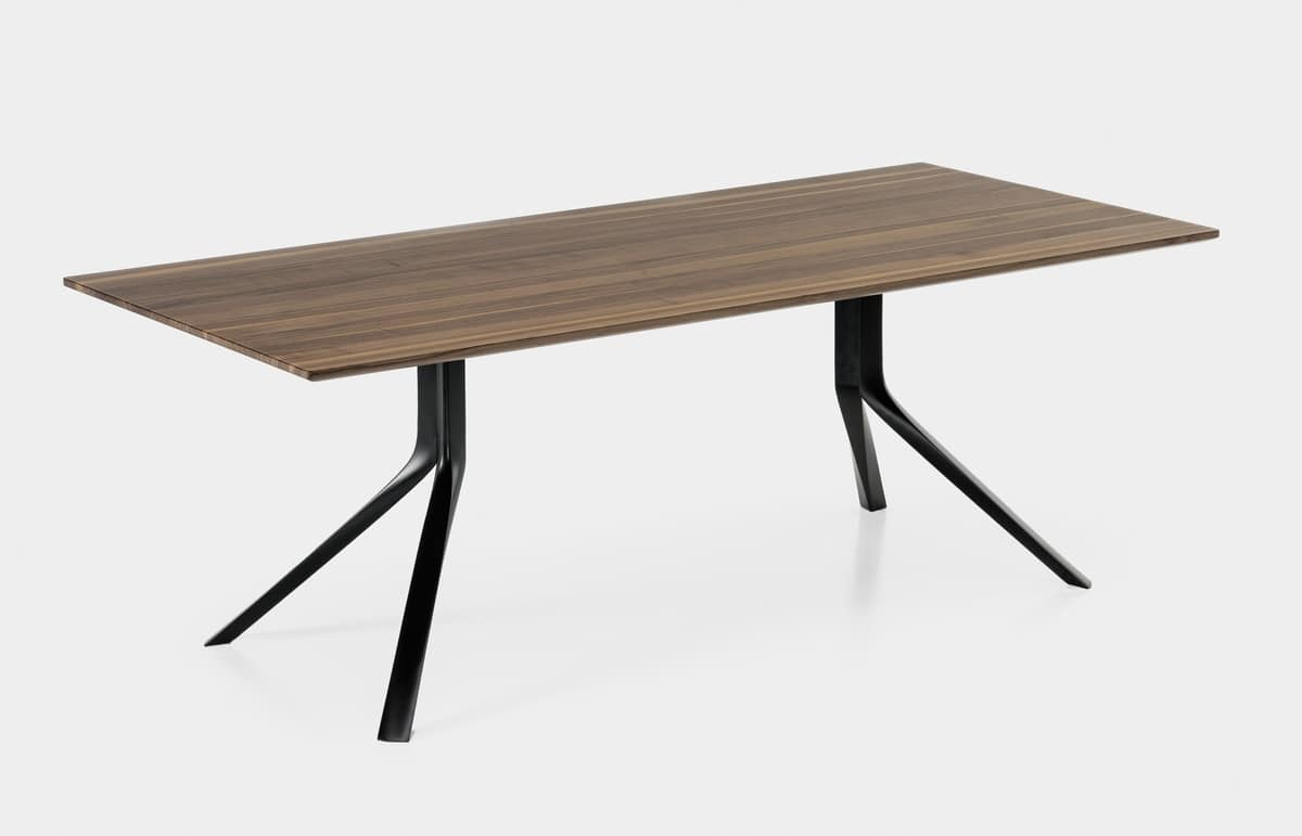 Oops i did it again rectangular, Essential rectangular table with aluminum legs