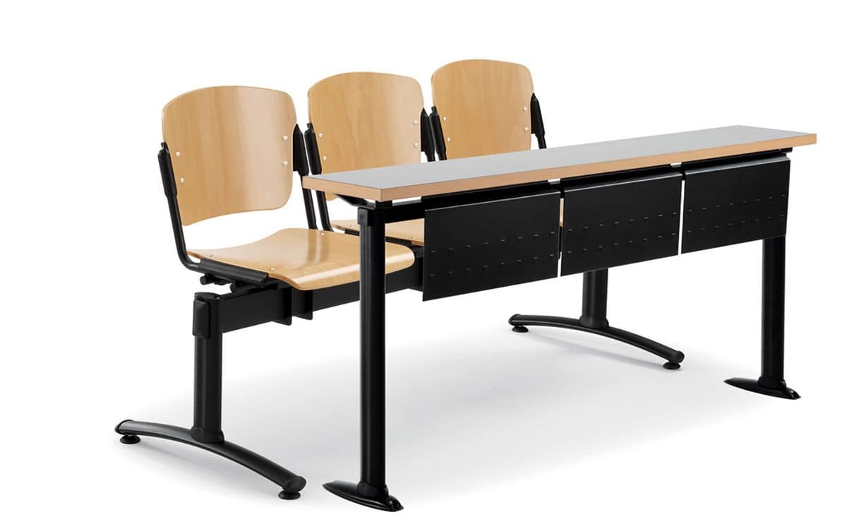Universities tables, Wood and metal tables suited for universities