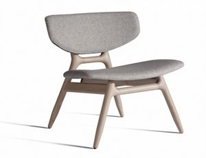 Eco 501T, Lounge chair with upholstered seat and back