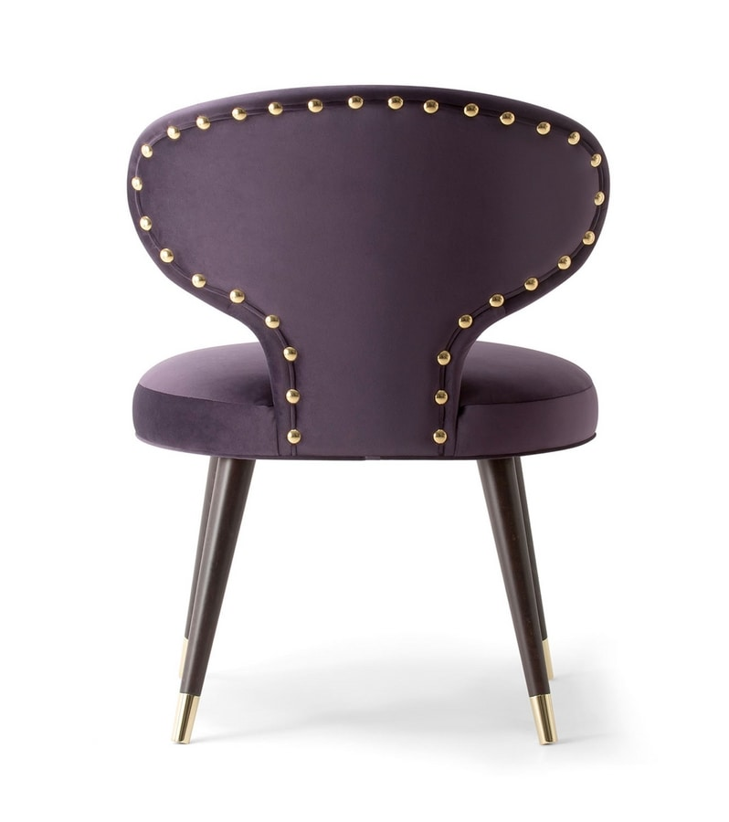 ELLE ARMCHAIR 064 PO, Armchair with a backrest with a glamorous silhouette