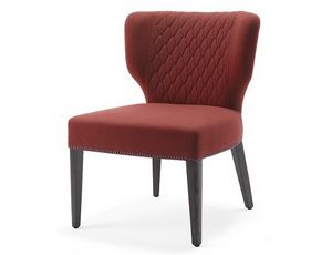 Morena-SL, Chair for hotels, equipped with a wide seat