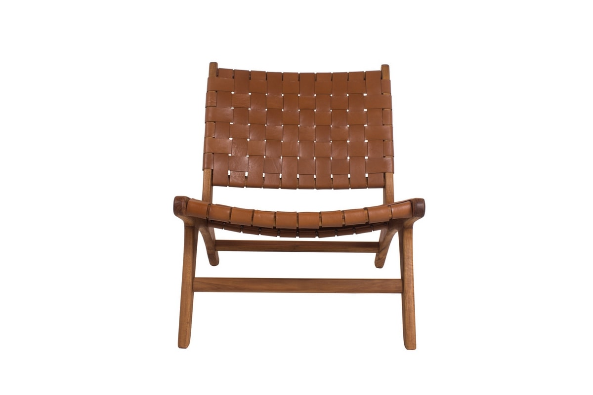 Remix 0535, Relax chair in teak and leather