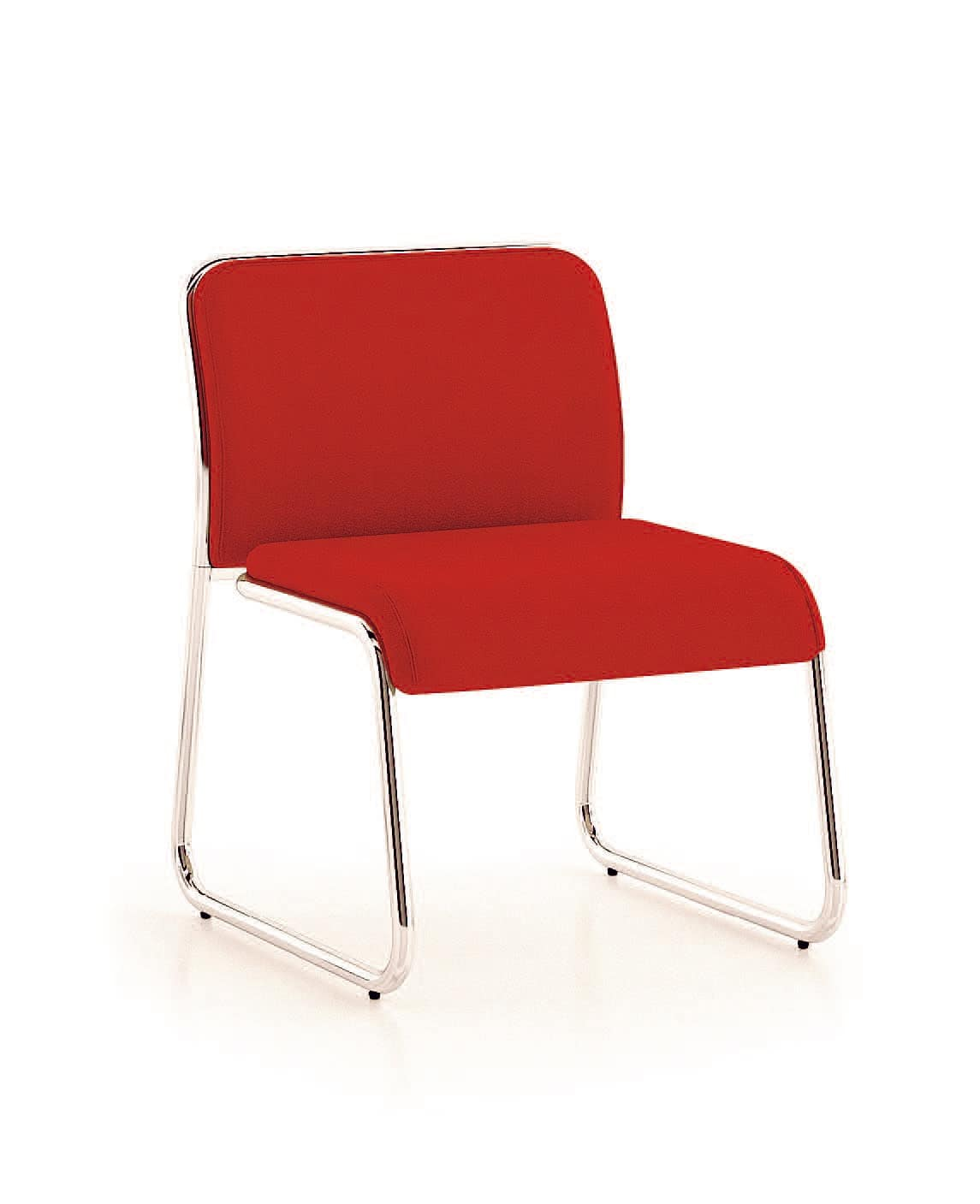 UF 183, Chair with wide seat and sled base, vintage style