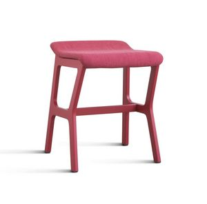 ART. 0010-H47 STOOL NHINO, Multipurpose low barstool in beechwood