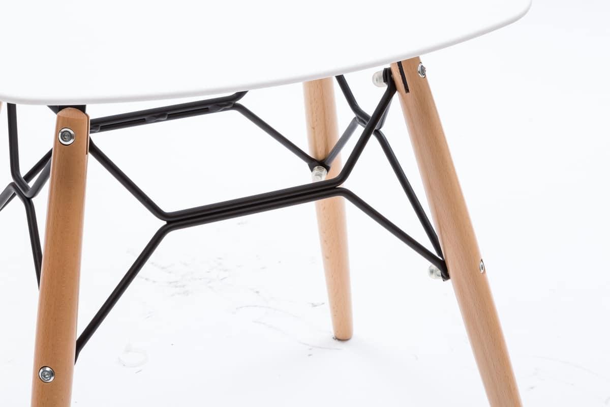 Art. 507 Polaris, Low stool with seat in white polypropylene
