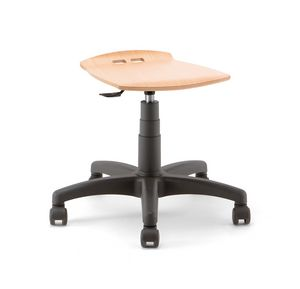 Bow 01, Adjustable stool, on castors