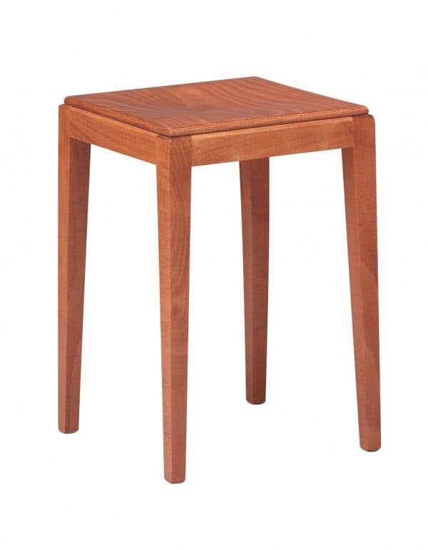C07SG, Low barstool in beech, ideal for bars and pubs