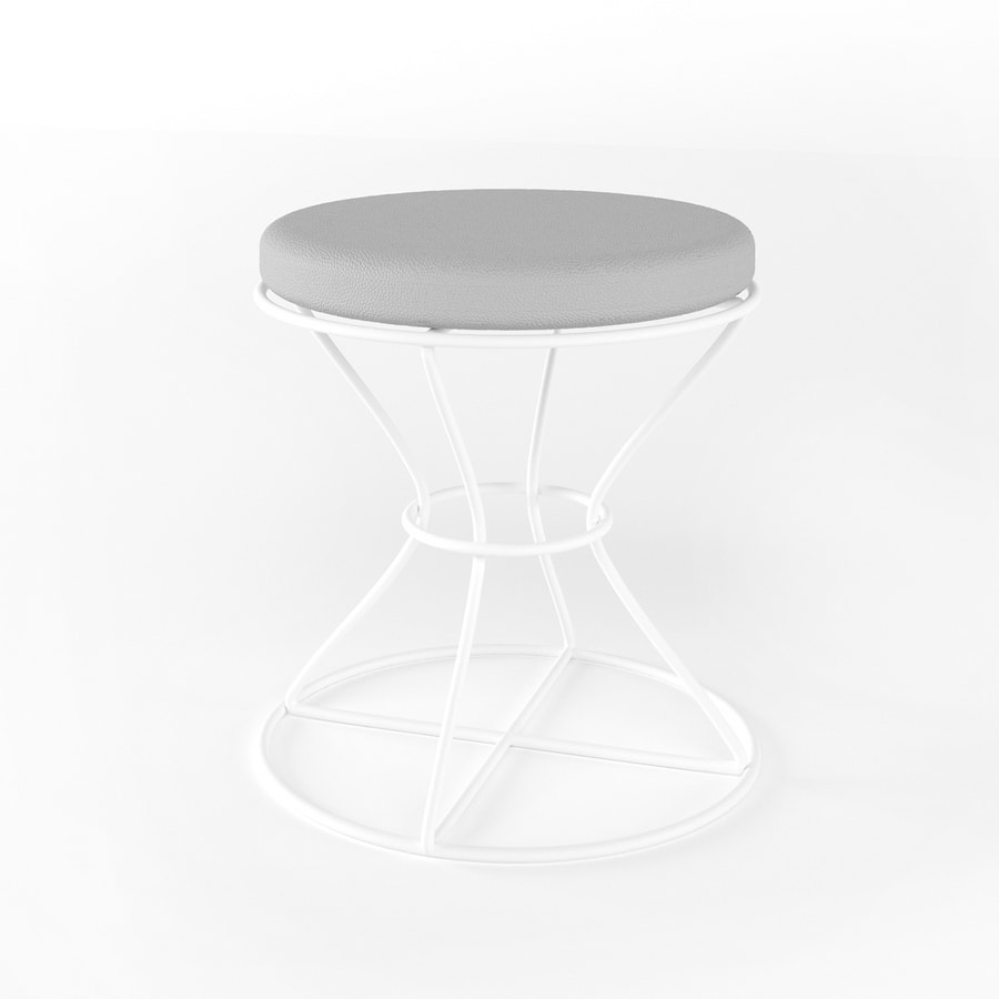 Clessidra Light, Pouf with base in iron rod
