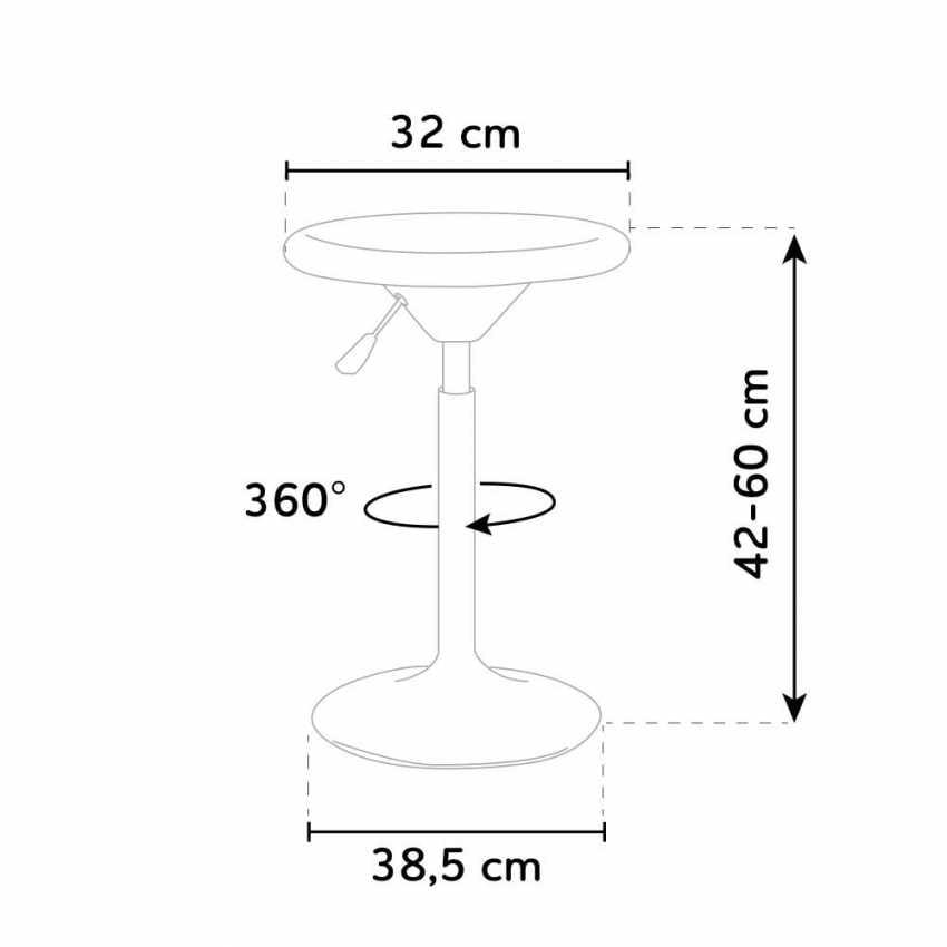 Height adjustable children's stool SEATTLE Design - SGA800SEA, Height adjustable children's stool