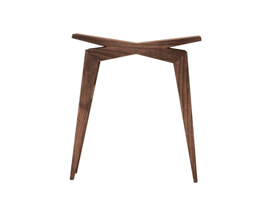 Icaro 5303/F, Low stool in ash wood