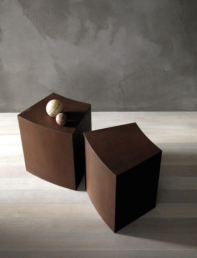 Ketil, Low stool in laser-cut iron