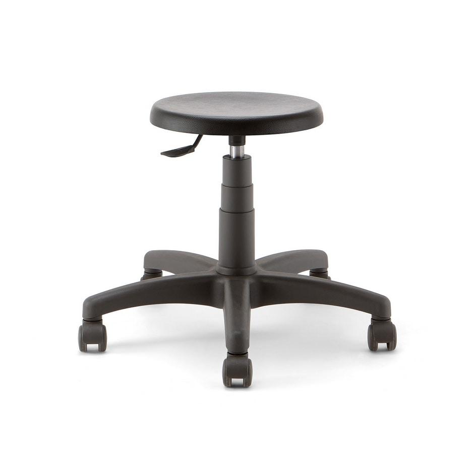 Mea 01, Low stool on castors