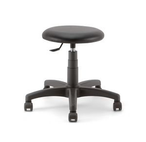 Mea Soft 01, Stool on castors, with padded seat