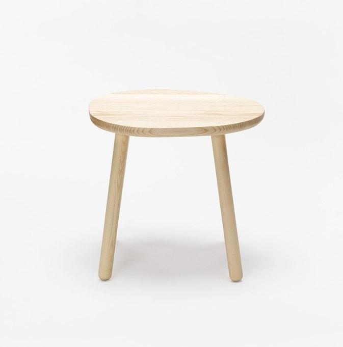 Pebble stool, Low wooden stool