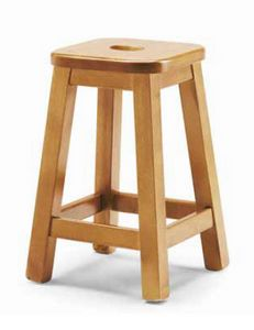 Quadro-B, Rustic low stool, in pine wood