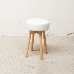 Round stool Love, Outlet low stool, with padded round seat