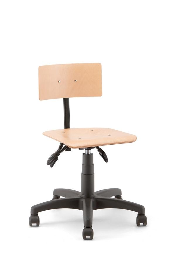 Rumba 01, Work stool on castors