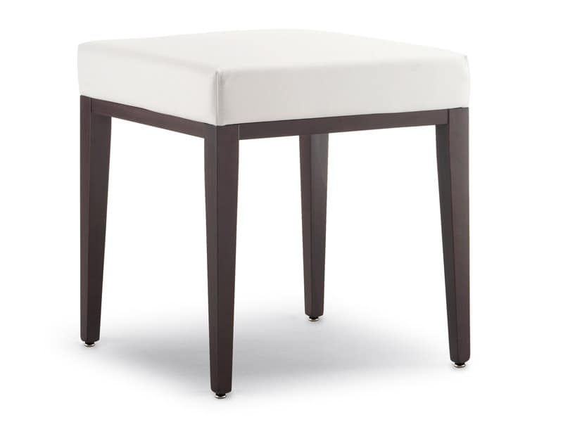 SG 49 / EE, Low stools made of wood, covered with imitation leather, for waiting