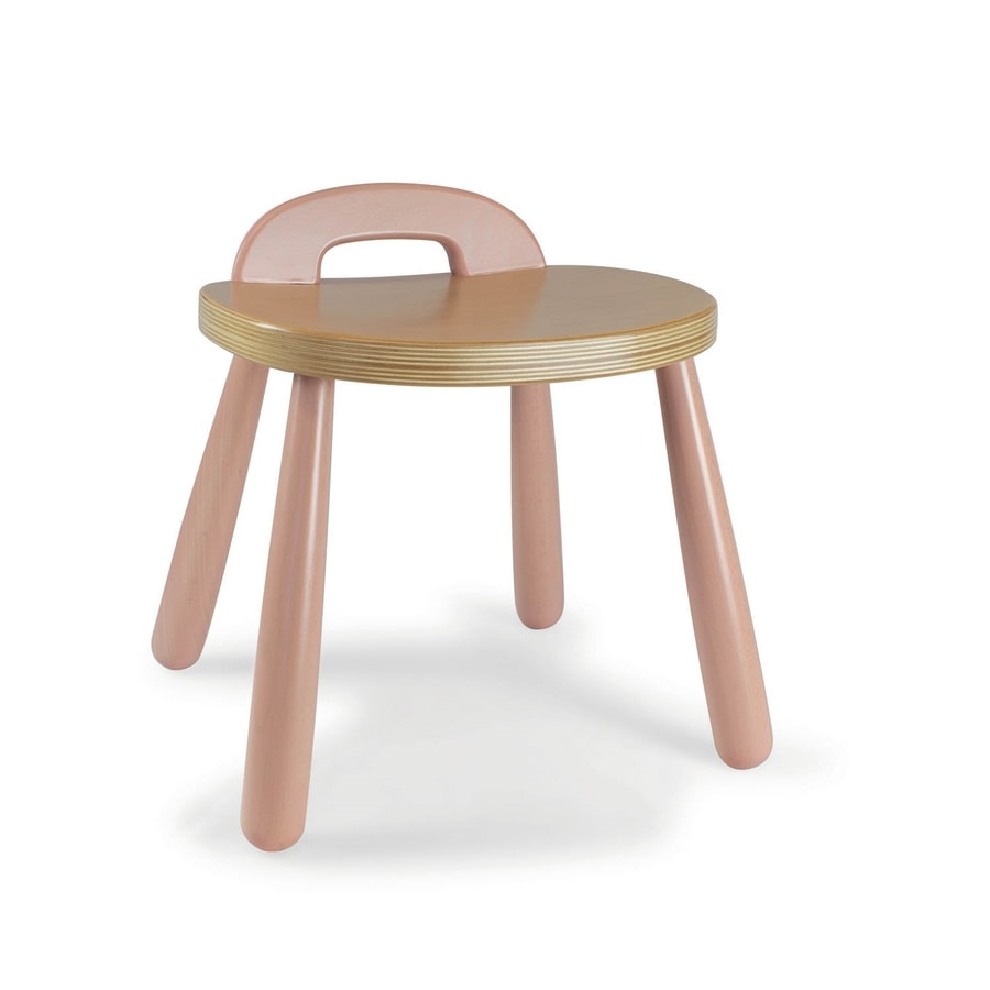 SPIDER, Low wooden stool
