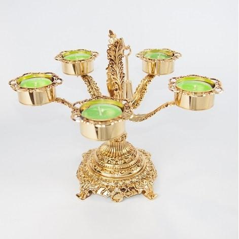 6002, Gold-plated candelabra
