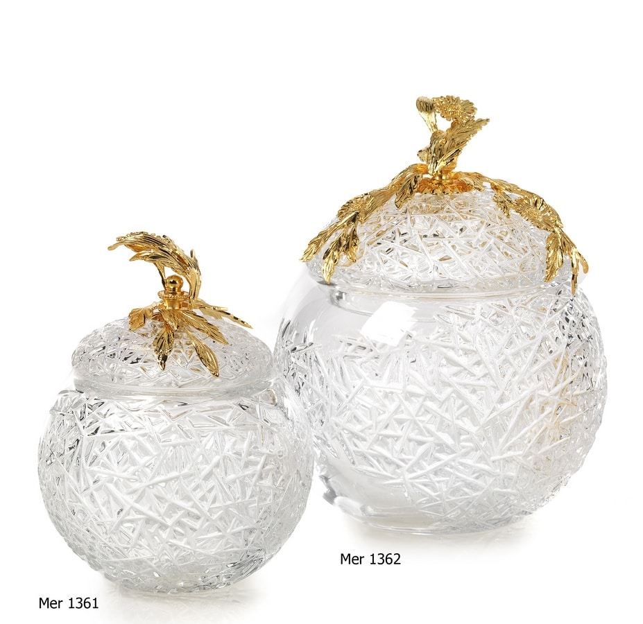 Art. MER 1361 - 1362, Decorative crystal containers