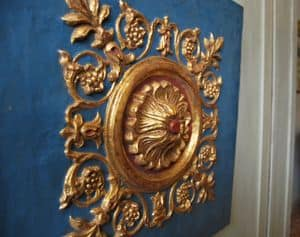Frieze ART. AC 0030, Decorative panel in plaster and papier mache, lacquered