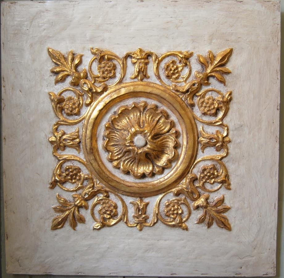 Frieze ART. AC 0030, Decorative panel in plaster and papier mache, lacquered