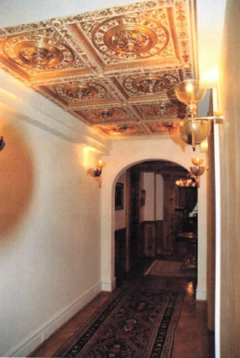 CEILING DECORATIVE PANEL ART. AC 0032, Golden decorative panel, for luxury villas