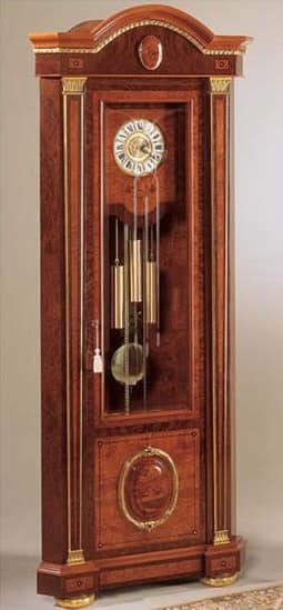 IMPERO / Grandfather corner clock , Grandfather Clock made of ash, luxury classic style
