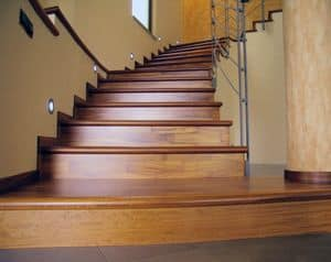 wood cladding for existing stairs, Cladding for stairs, in wood, for hotels and villas