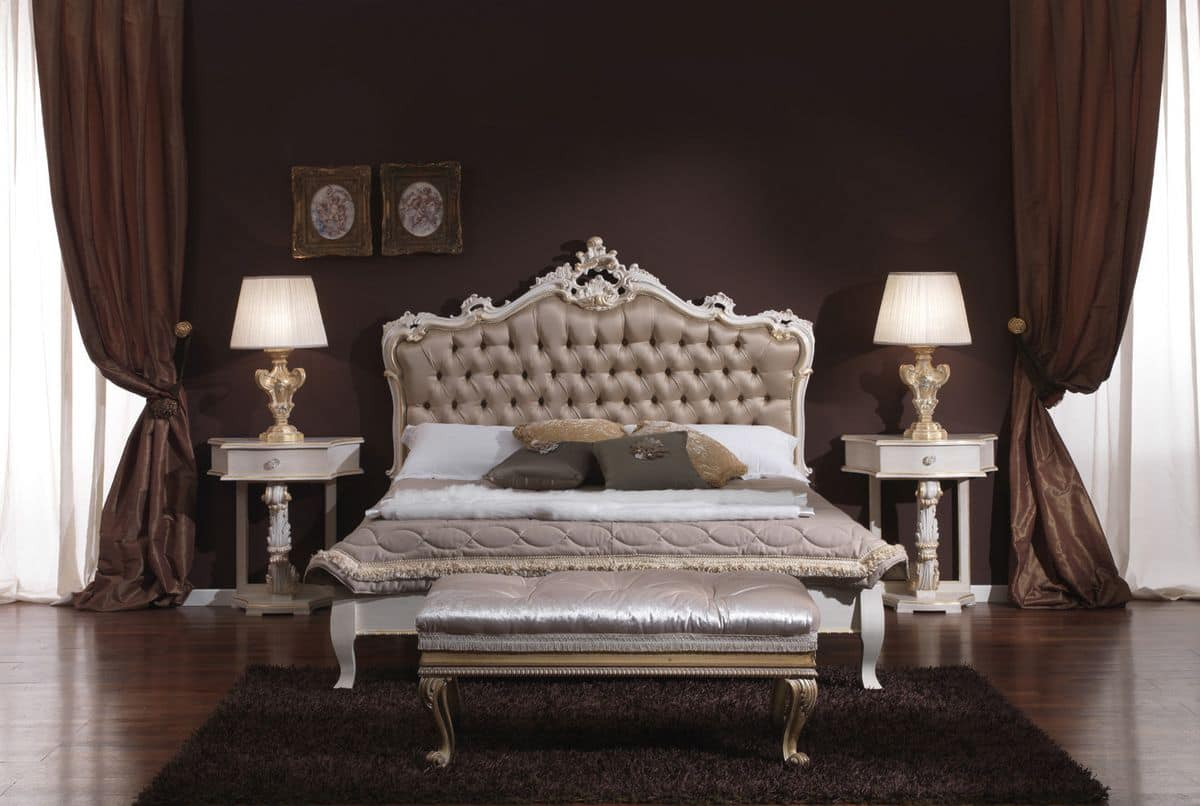 3645 BED, Buttoned double bed ideal for hotels and bedrooms