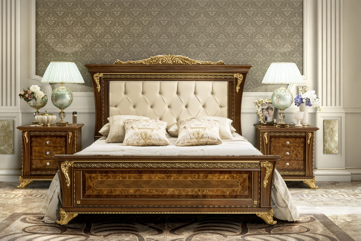 Aida bed, Elegant classic style bed