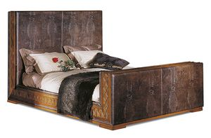 1098V2, Bed with alligator printed leather upholstery