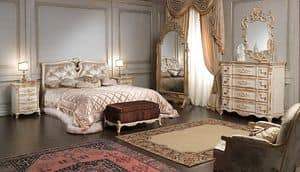 Art. 2006/970, Luxury bed, Louis XVI style, with handmade decorations