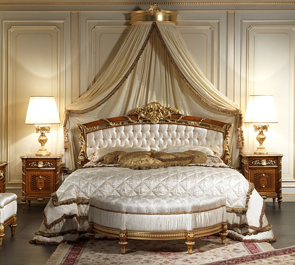 Art. 2011/K bed, Bed with capitonnè headboard