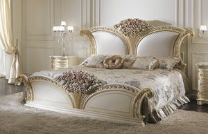 ART. 2971, Bed with decorated headboard
