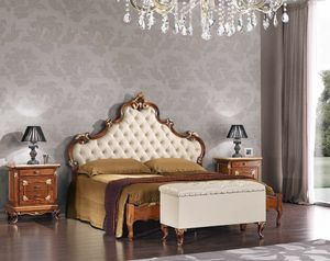 Art. 3122, Bed with leather headboard
