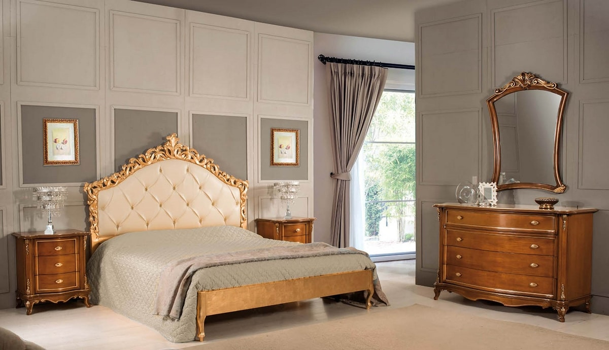 Art. 3562, Bed with carved headboard