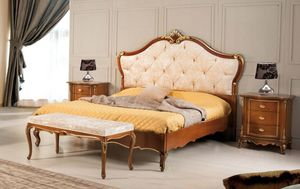 Art. 3578, Bed with tufted headboard