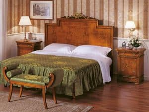 Art. 774, Luxurious bed with inlaid headboard, hand made