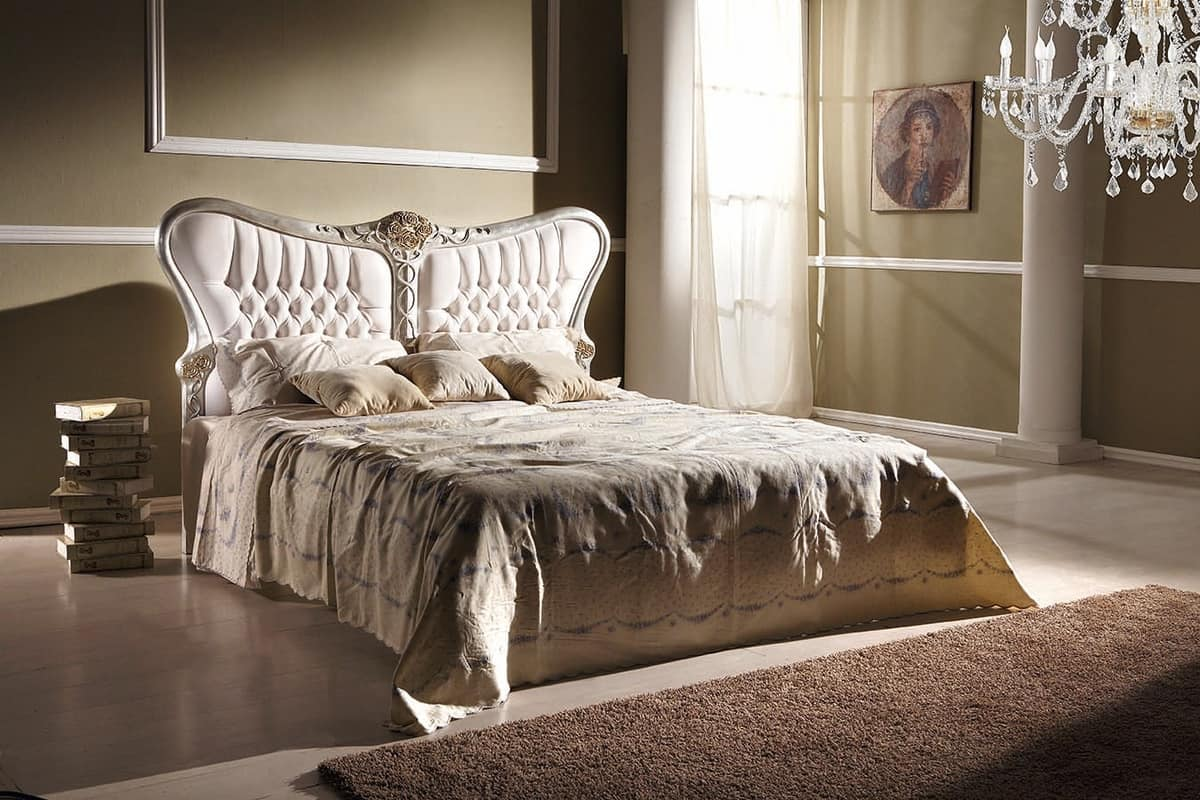 Art. 801, Bed with sinuous lines, with tufted headboard