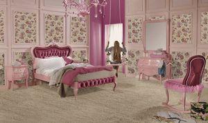 Venezia single bed, Pink bedroom furniture