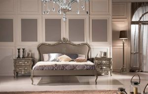 Double bed, Outlet bed, with elegant carving
